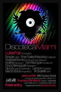 Discoteca Party WMC Miami Thursday March 27 Discoteca Music Label Party