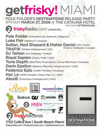 GetFrisky Miami Flyer WMC Thursday March 27: Get Frisky! Miami