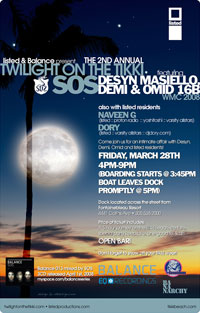 Twilight on the Tikki Friday March 28: Twilight On The Tikki With SOS
